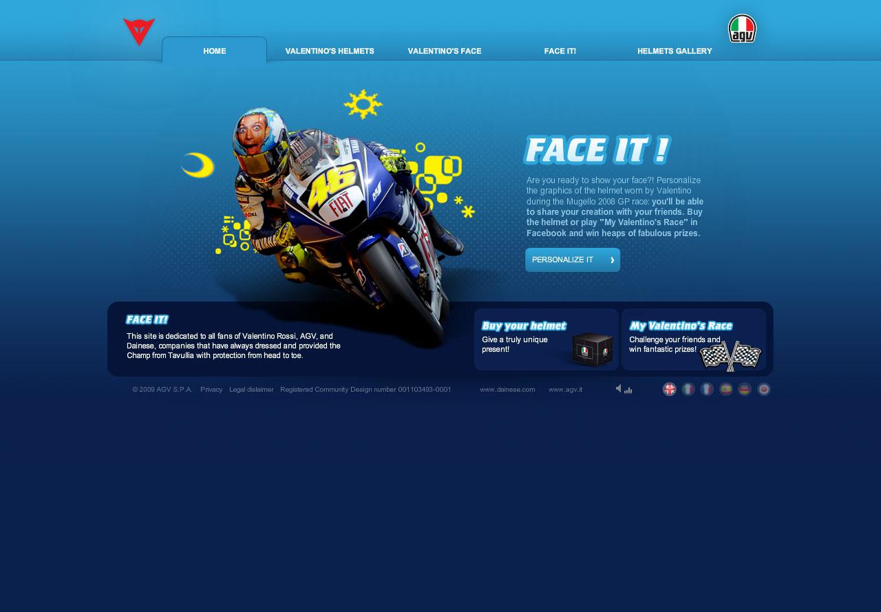 AGV - Valentinosface - Real time 3d