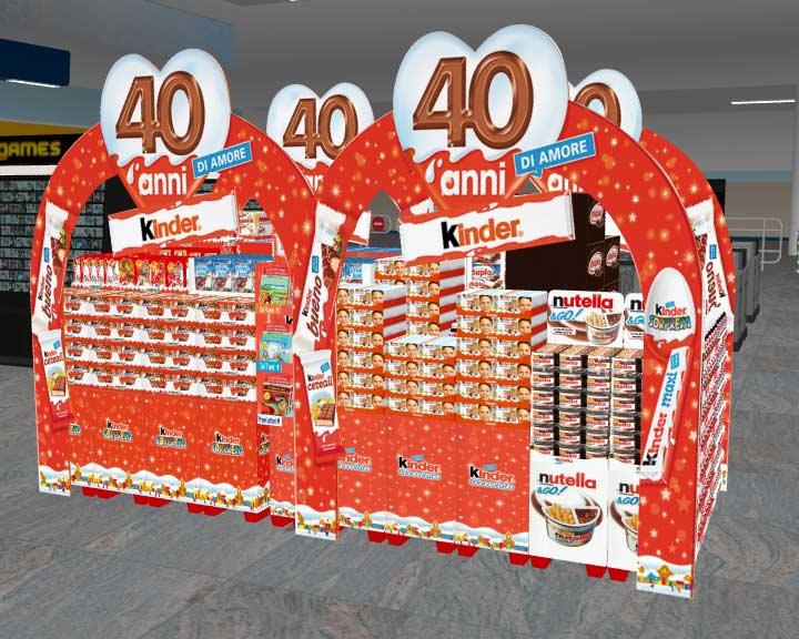 Isola Kinder e Ferrero Perfect Store Strategy