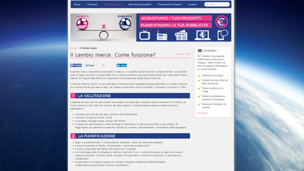 Web Site Gruppo Next