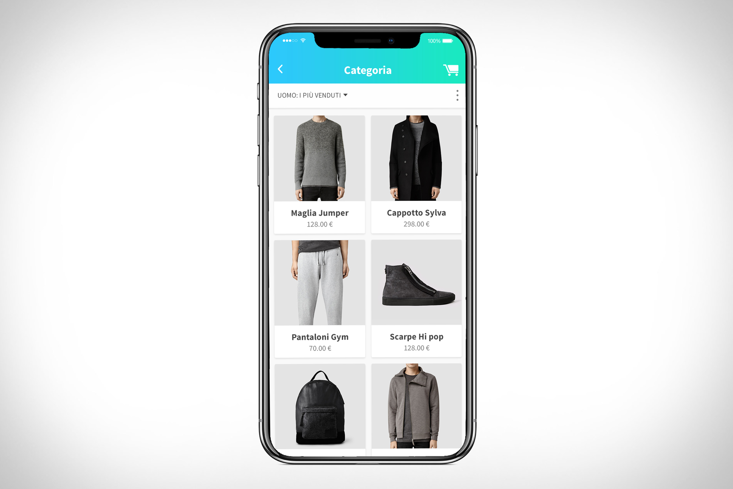 App e-commerce